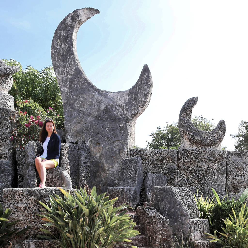 Coral castle in Florida, a lot of fun to explore with kids.
