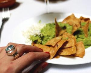 A guacamole dish in Cafe De Tacuba