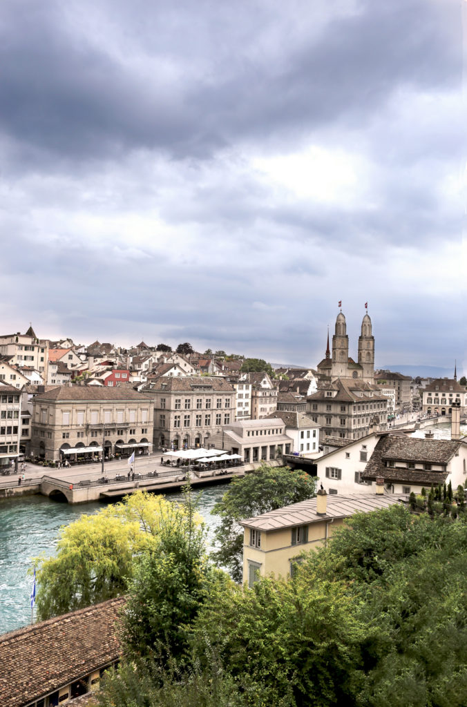 Zurich in daylight.