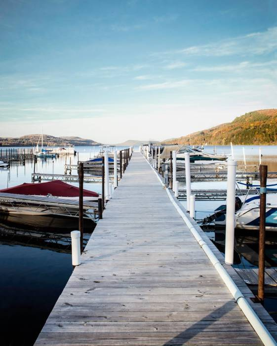 Image of a pier in Cooperstown, taken during weekend getaways from NYC