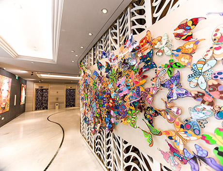 Artwork at Rendezvous Hotel in Singapore