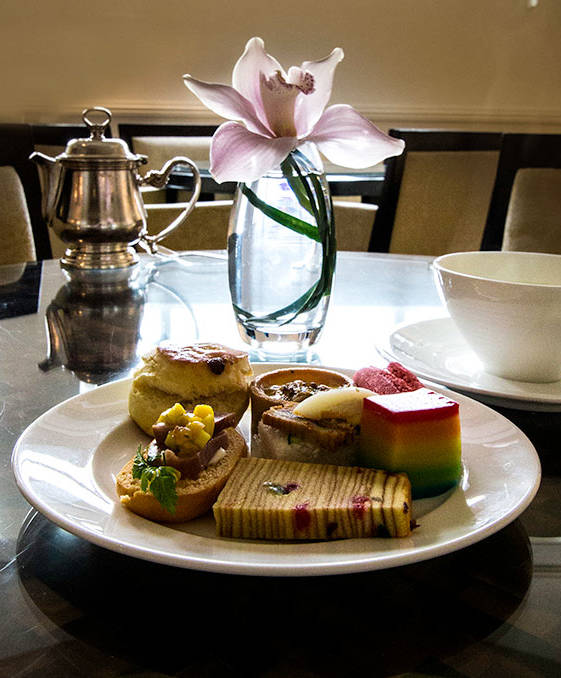 the afternoon tea at the fullerton - best luxury hotel in singapore