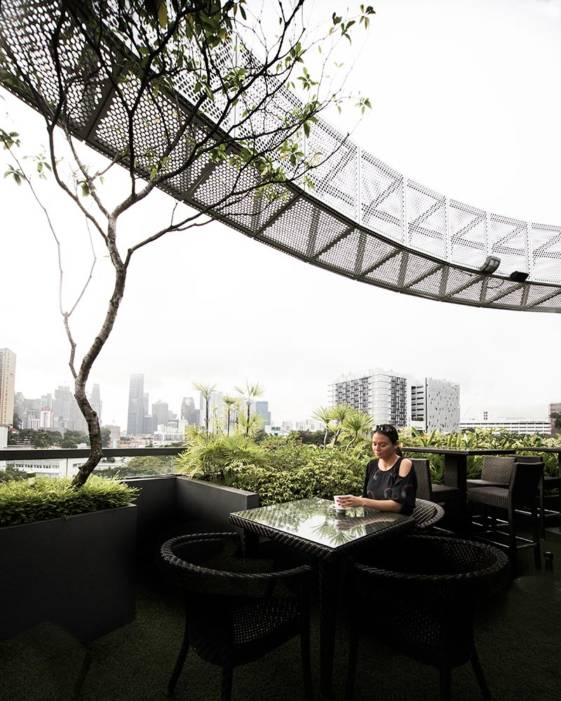 best hotel in singapore for couples outdoor breakfast area