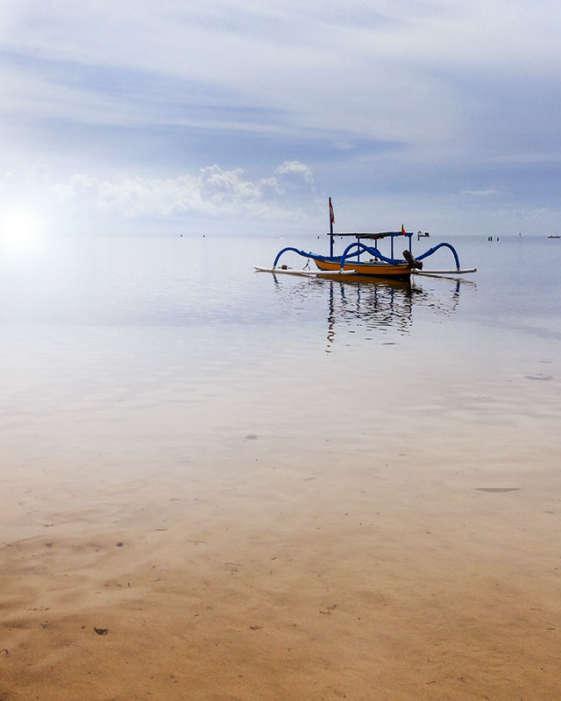 bali resorts hard rock hotel sanur beach fishing boat