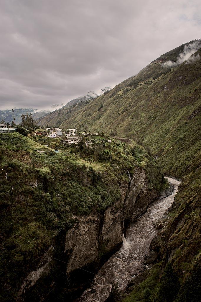 Mountains and a river in Banos, ecuador,  taken on ecuador vacation
