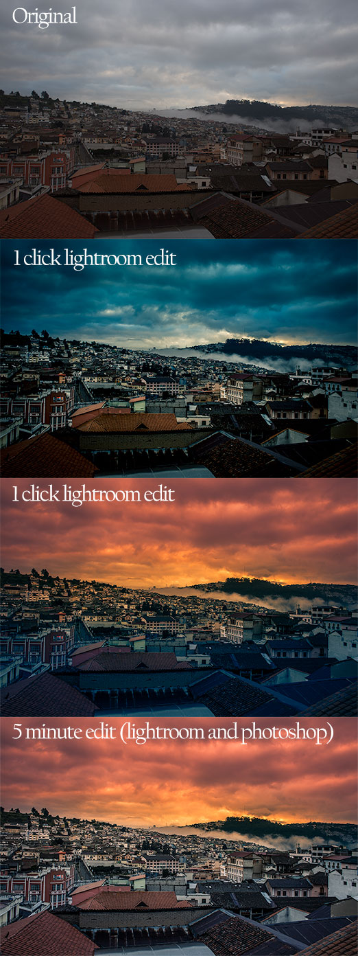 travel photography tips - lightroom edit samples