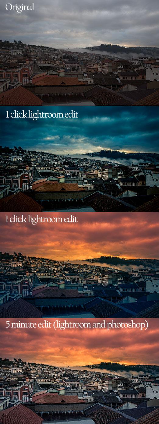 travel photography tips - lightroom edit samples