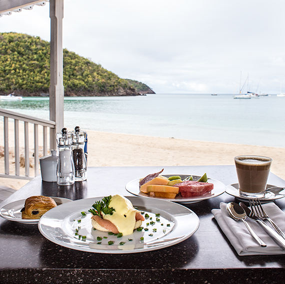 Breakfast at Carlisle Bay Hotel