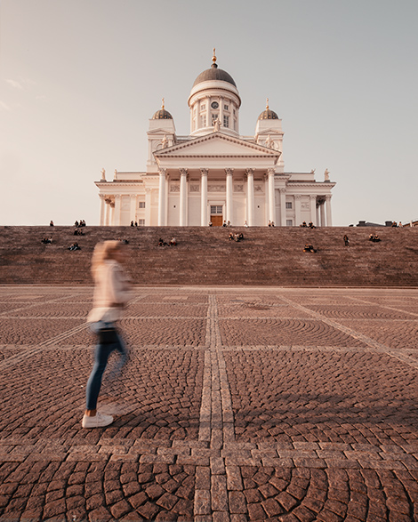 helsinki cathedral finland summer