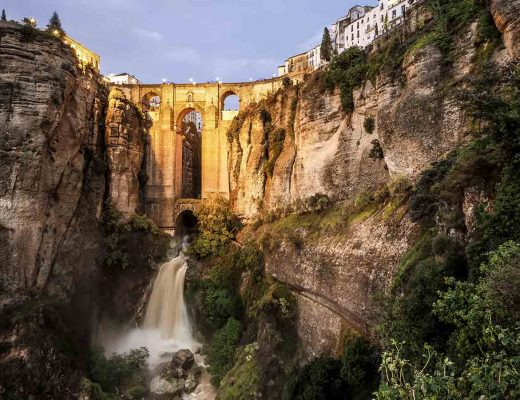 The Waterfall in Ronda, Analucia, Spain.