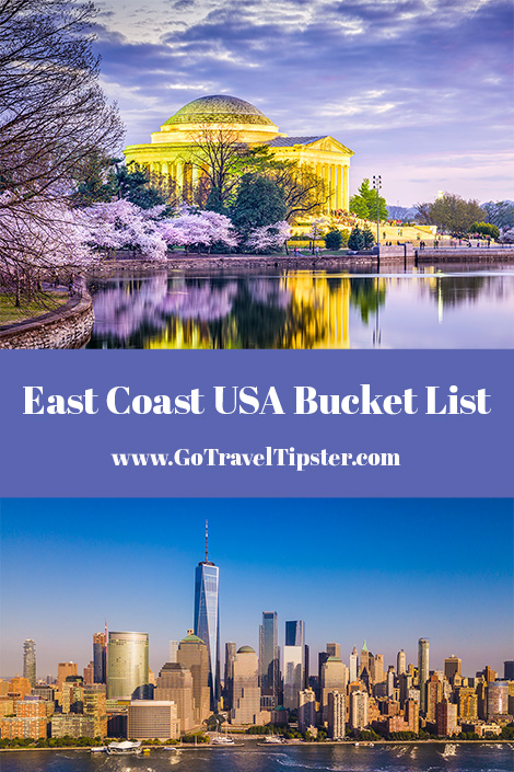 The ultimate East Coast, USA, bucket list.  Travel from Florida to Washington DC, Cape Cod to NYC.  Includes great hotel recommendations.
