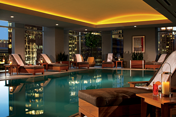 The best hotels in every price range in Charlotte, NC - The indoor pool at the ritz carlton