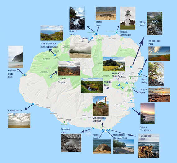 Kauai Itinerary and Travel Tips - TRAVELTIPSTER on kauai tour maps, kauai county parks, kauai beach map, kauai relief map, kauai points of interest map, kauai county map, kauai hunting map, kauai waterfall map, honopu ridge trail map, kauai cities map, kauai snorkeling spots, kauai snorkeling map, kauai tourist map, kauai scuba diving, kauai kayaking, kauai topographical map, kauai falls, kauai road map, kauai activities, princeville kauai map,