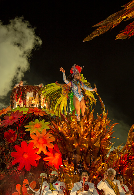 a woman on a float in rio carnaval, 2019 - brazil safety tips