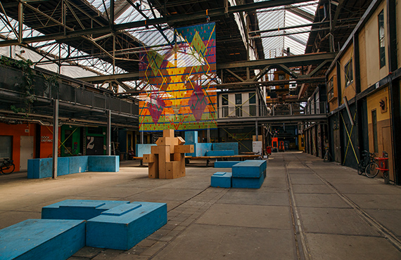 Weird things to do in amsterdam - the inside of ndsm wharf, a former shipyard warehouse and now an art collective