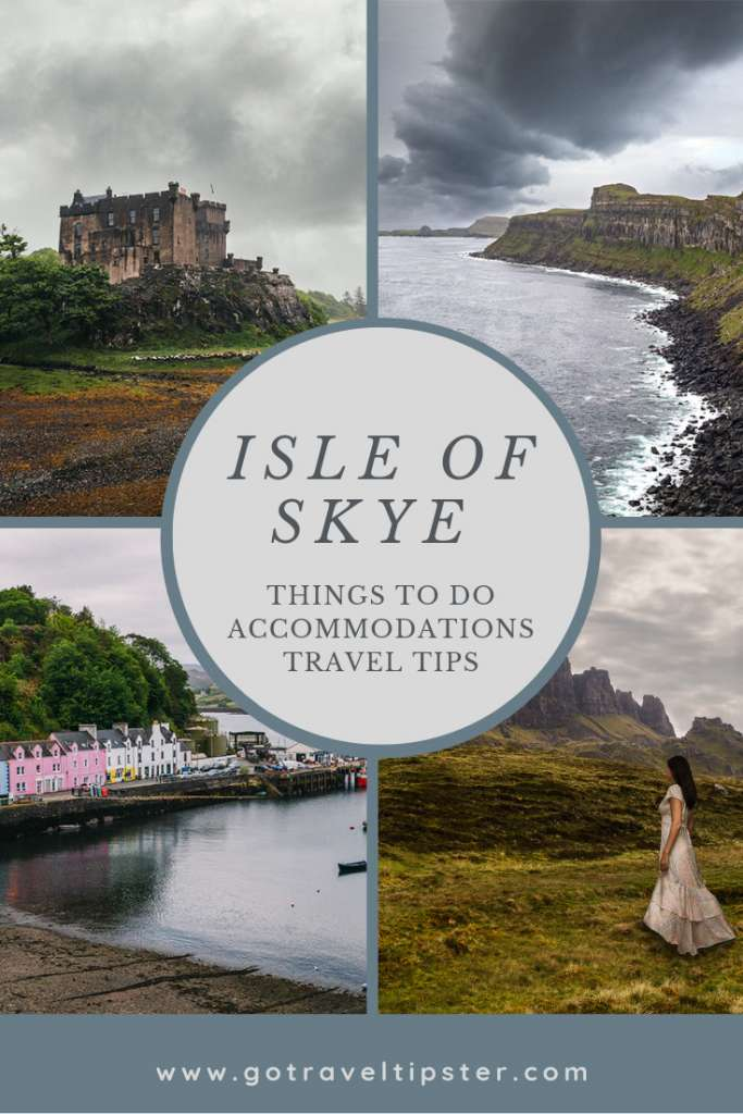 A pinterest friendly image for Incredible things to do on the Isle of Skye - and Scotland Travel tips