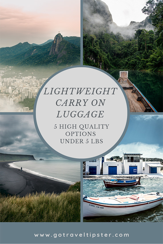 Lightweight Carry on Luggage options under 5 lbs.  Best hand luggage for international and domestic travel, pros and cons of ultralight bags.  Includes Cabin luggage travel tips and what factors to consider when you purchase a lightweight carry on bag.