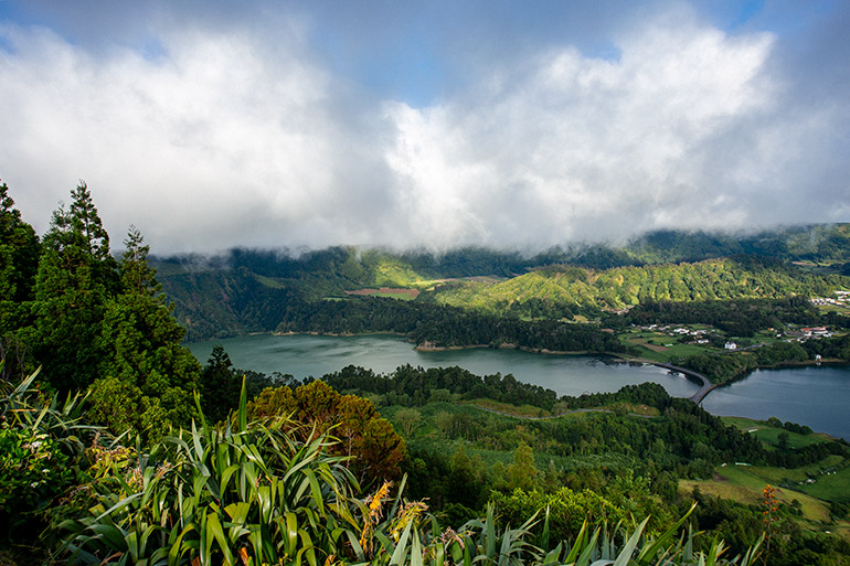 The two lakes - Lagoa Sete Cidades.
