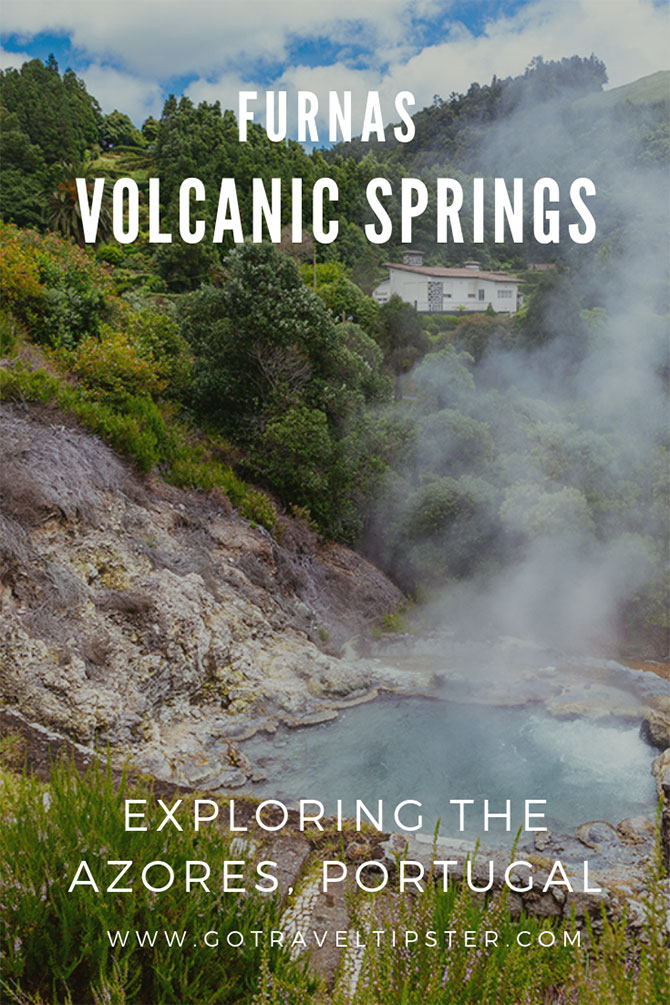 Exploring Furnas the Volcanic springs village in Sao Miguel, Azores.  Everything you need to know to visit Furnas, including best time to come and things to do nearby. Hepful Sao Miguel, Portugal travel tips.  #portugal #saomiguel #azores #caldera