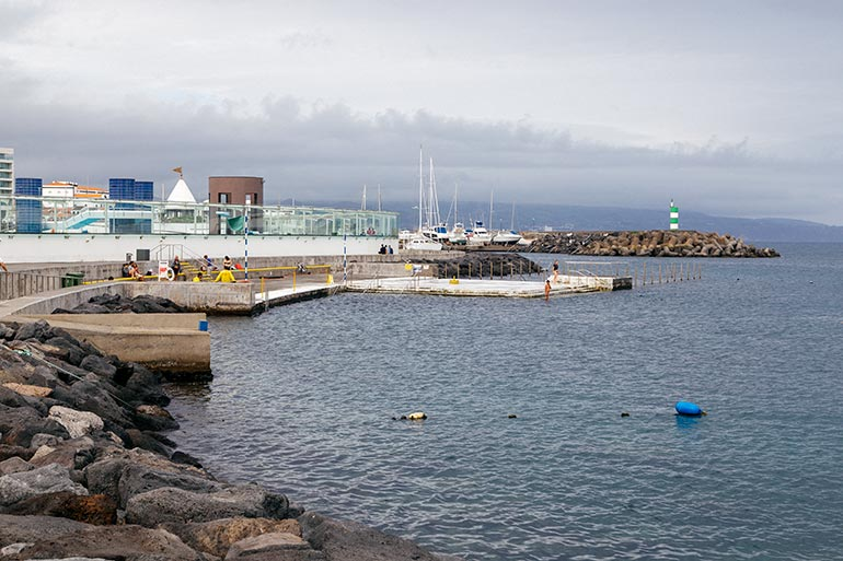 Ponda Delgada beaches - a swimming area and pool