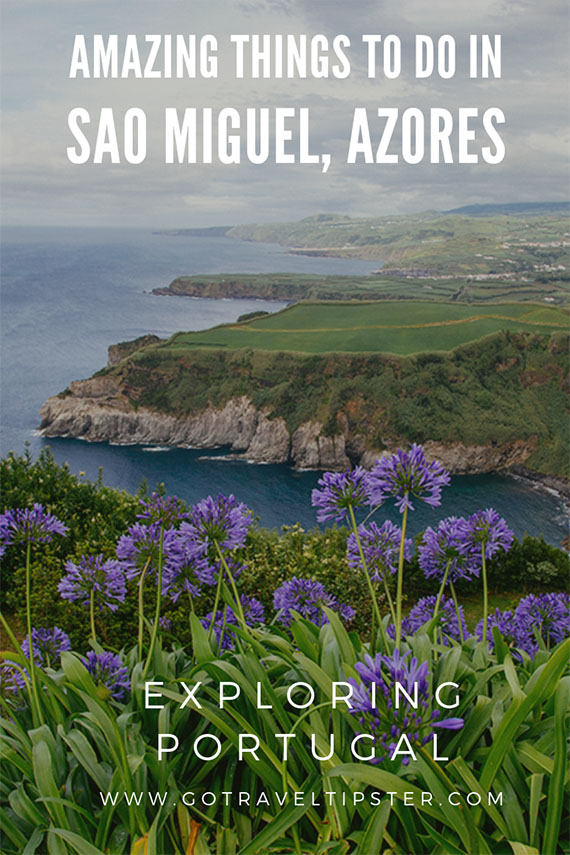 A pinterest friendly image for Sao Miguel Azores.