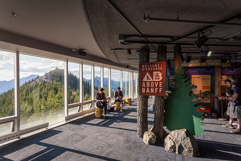The Banff gondola interpretive center/museum