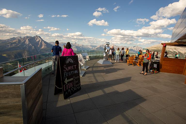 A Banff gondola observation deck.