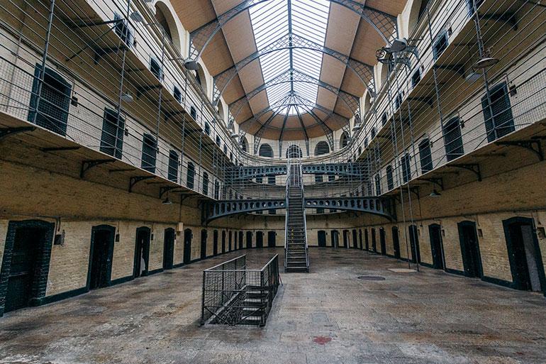 The Kilmainham Gaol Prison, internal courtyard.