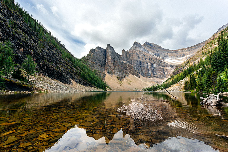 Lake Agnes on the Big Beehive Trail in Lake Moraine, Banff