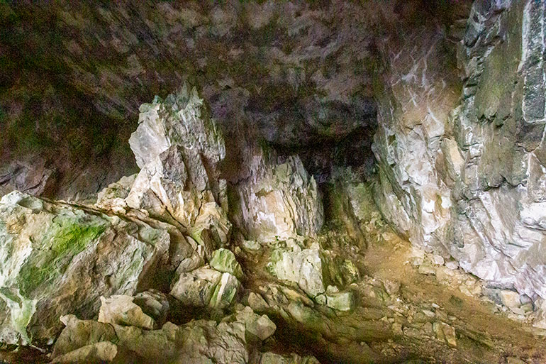 A small cave as seen in Kootenay National Park.