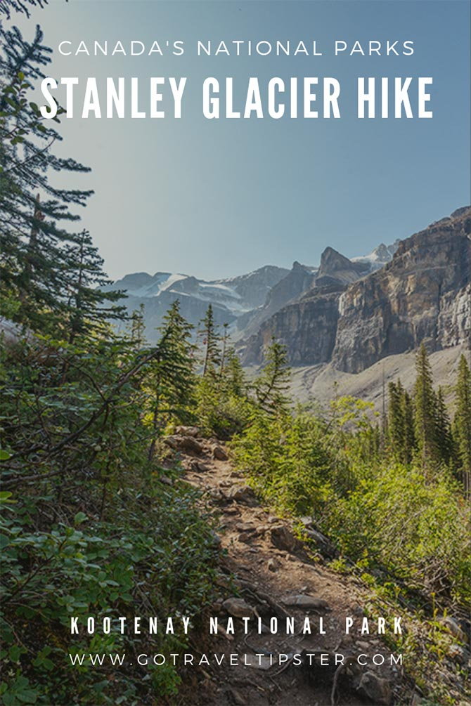 Located next to Banff National Park, Kootenay National Park is an uncrowded, undiscovered treasure. The stunning Stanley Glacier hike goes far beyond the groomed trail to a secret #waterfall and #caves. #canada #nationalpark #hiking #trekking #traveltips
