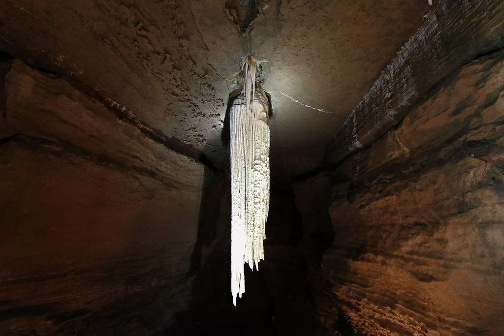 The Great Stalactite inside the Doolin Cave.