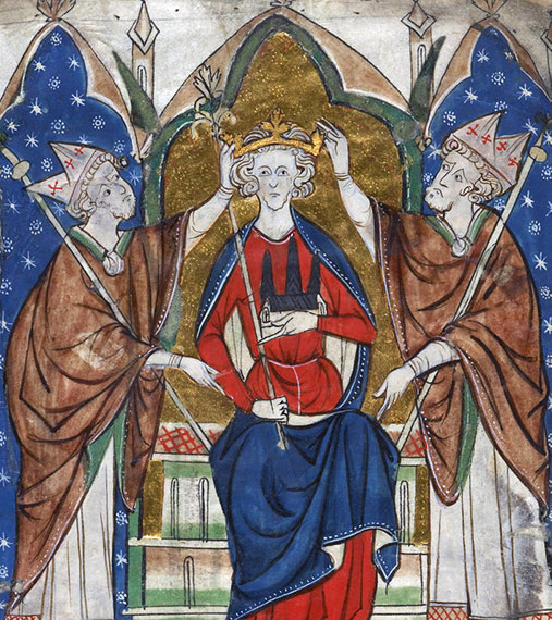 A medieval painting of king Henry III.