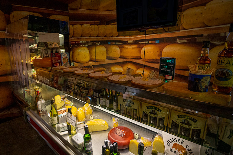 The cheese display in Aillwee Cave Farmshop