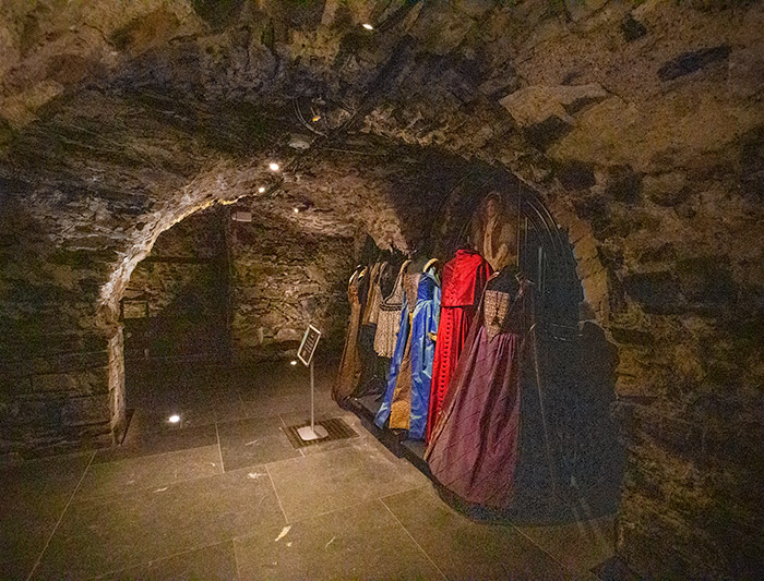 """Costumes from tv show """"The Tudors"""" on display at Christchurch Cathedral."""