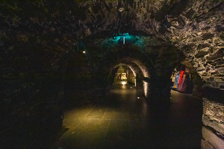 The crypt under Christ church Cathedral Dublin.