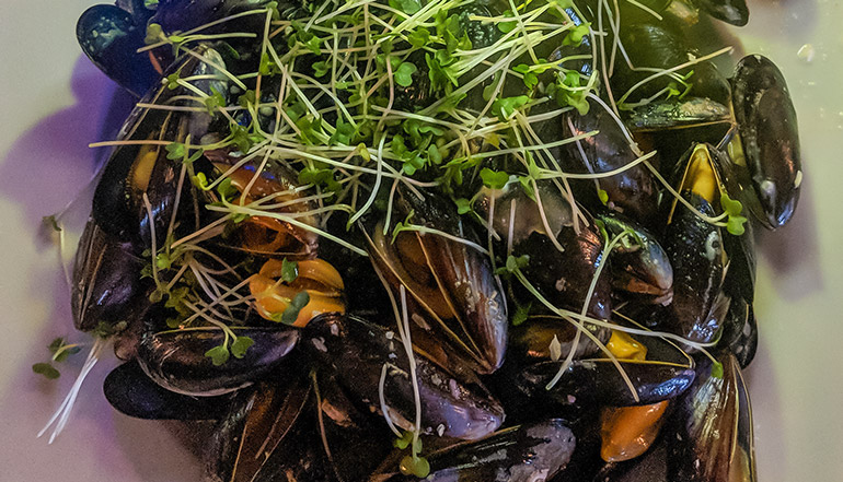 Clams are a popular food item in the Burren.