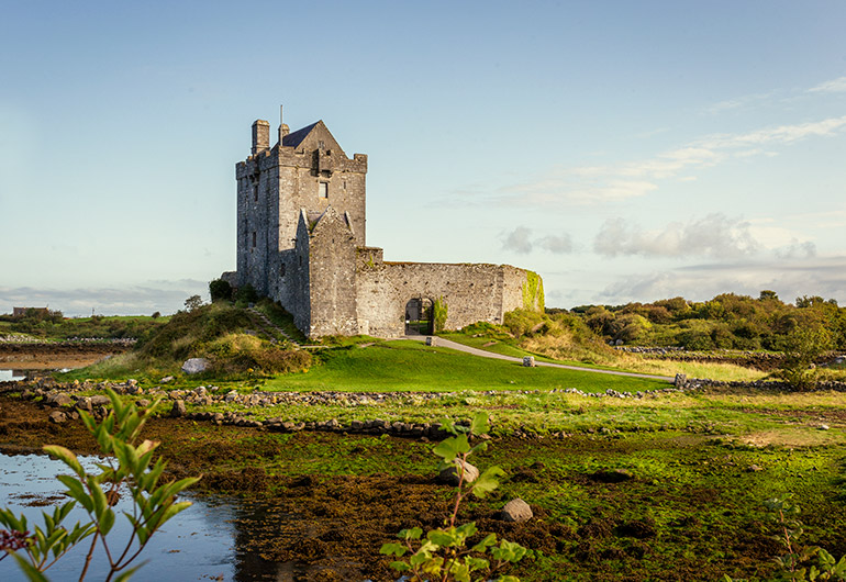 Dungaire Castle as seen on a road trip in Ireland - renting a car in Ireland.