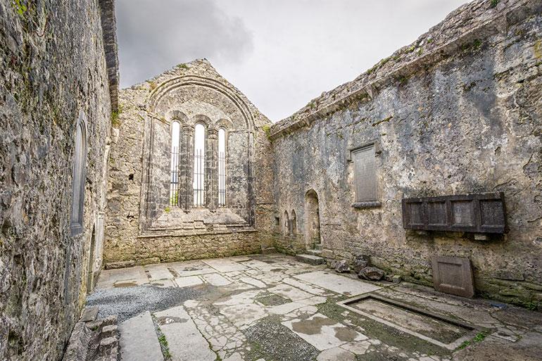 The Kilfenora Cathedral in the Burren, Ireland.