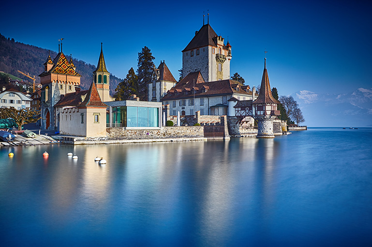 Oberhofen Castle, Interlaken, Switzerland.