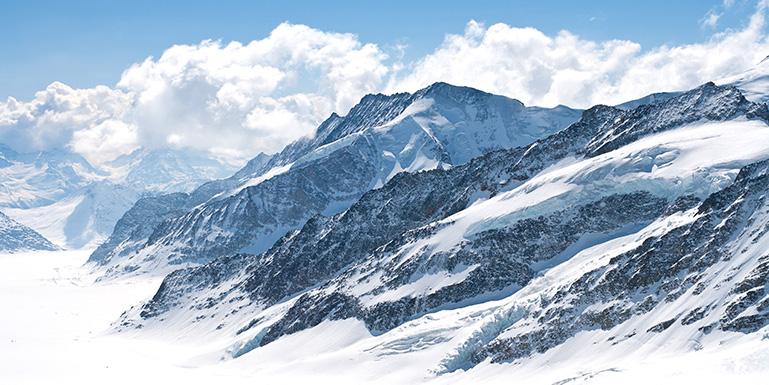 The Aletsch Glacier near Interlaken, Switzerland