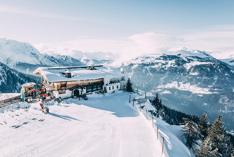 A ski resort near Interlaken, Switzerland - the alps.
