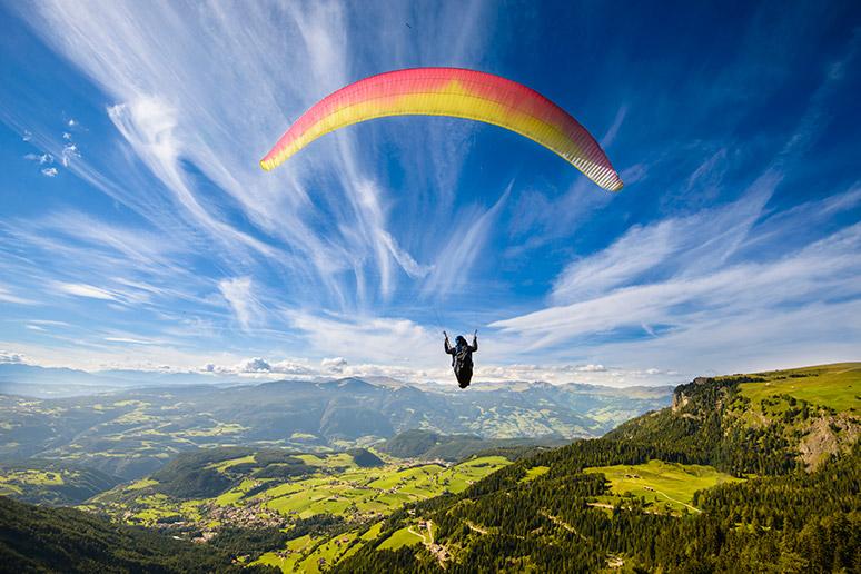 Paragliding in Swiss Alps, Interlaken, Switzerland