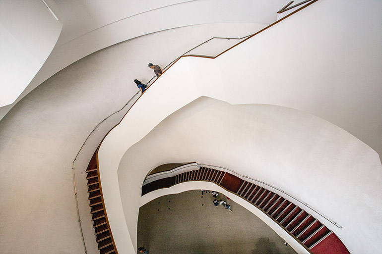 Staircase inside the National Taichung Theater.