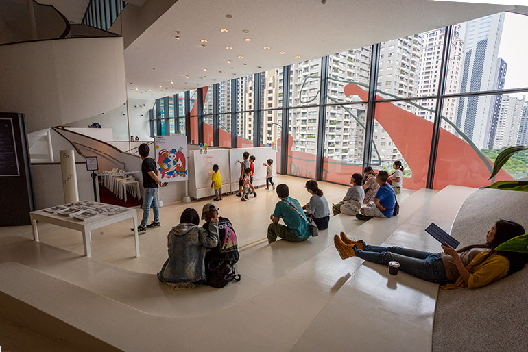 The children's play space in the National Taichung Theater.