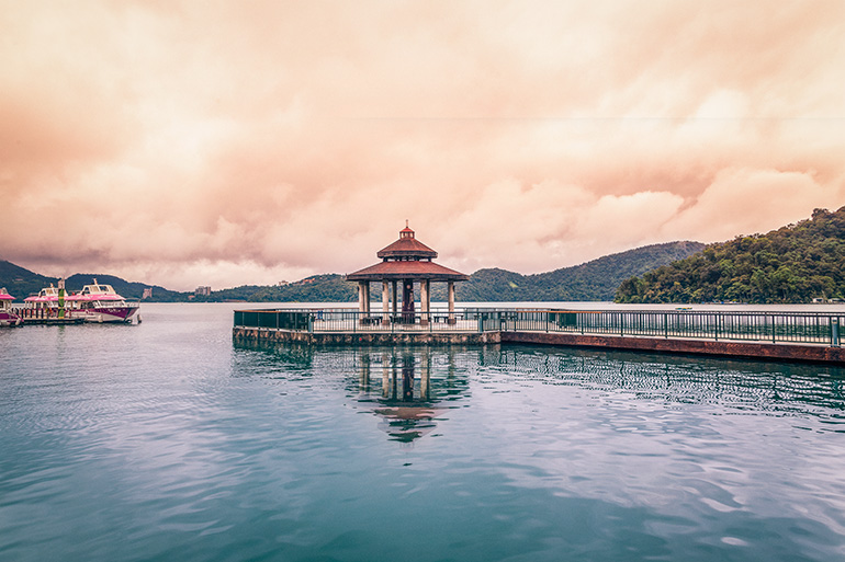 Sun Moon Lake, Taiwan.  A priority pass can help you be more comfortable before boarding coach.