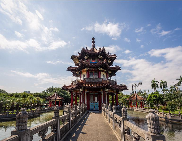 Peace park in Taipei.