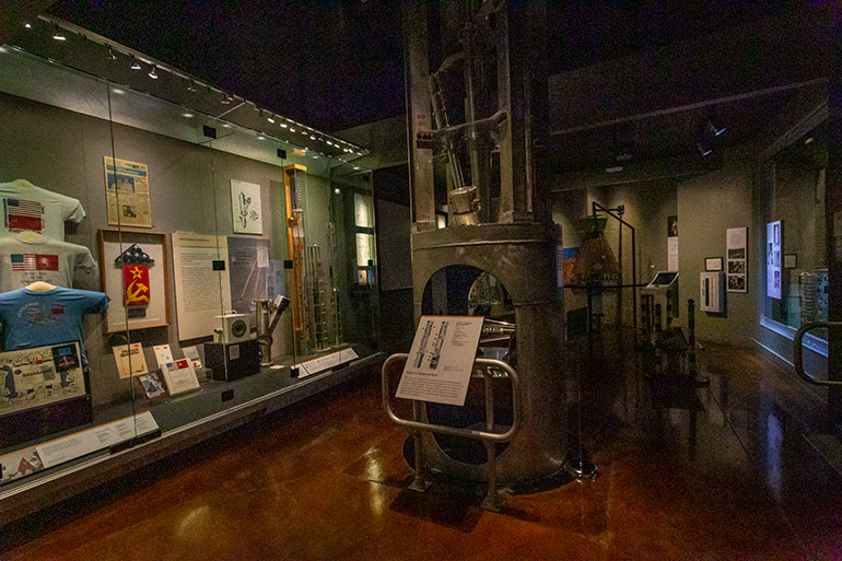 An exhibit in the Atomic Testing Museum, Las Vegas seven day itinerary.