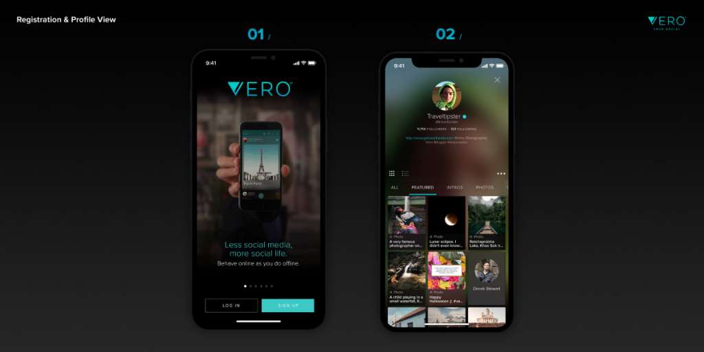 How to join Vero True Social - the intro screen.