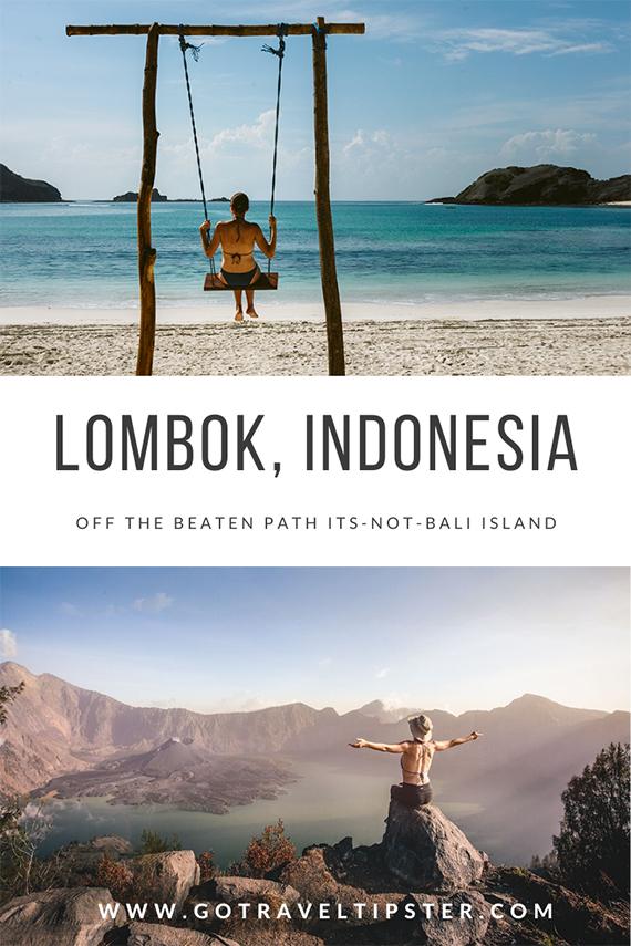 Lombok, Indonesia a pinterest friendly image.